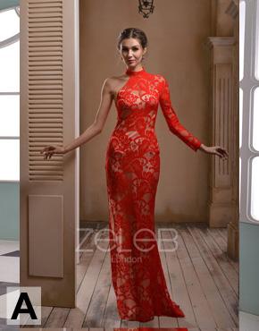 Asymmetric Lace Dress 1020