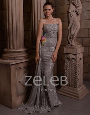 Sequin Fabric Dress 1107