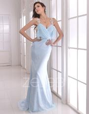 Embellished Chiffon Dress 1003