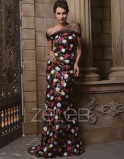 Sequin Strapless Dress 1007