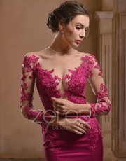 Flower Lace Evening Dress 1010