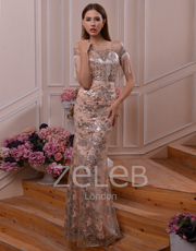 Sequin Fabric Dress 1105