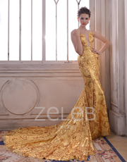 Gold Sequin Dress 1111