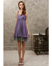 Chiffon Tea Length Dress 0703