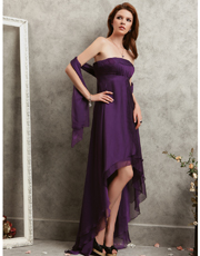 Strapless Asymmetric Dress 0715