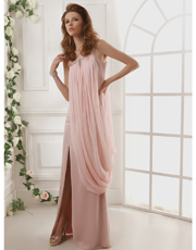 Grecian Single Shoulder Dress 0734