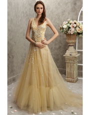 Embellished Soft Tulle Dress 0752