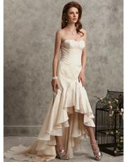 Silk Asymmetric Dress 0756