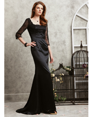 Lace Full Length Dress 0762