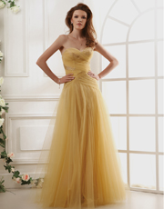Tulle Strapless Dress 0765