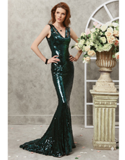 Sequin Fabric Dress 0768