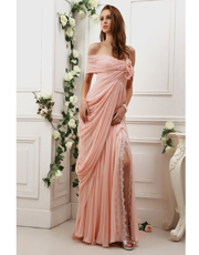 Draped Silk Dress 0772