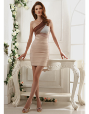 Single Shoulder Bandage Dress 0791
