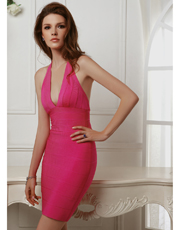 Halter Bandage Dress 0792