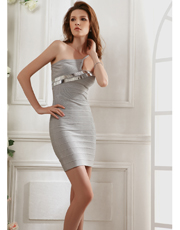 Single Shoulder Bandage Dress 0793