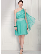 Single Shoulder Dress 0804