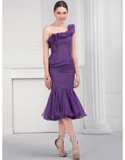 Single Shoulder Dress 0821