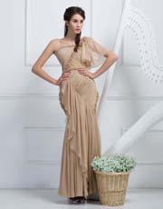Ruched Asymmetric Dress 0903